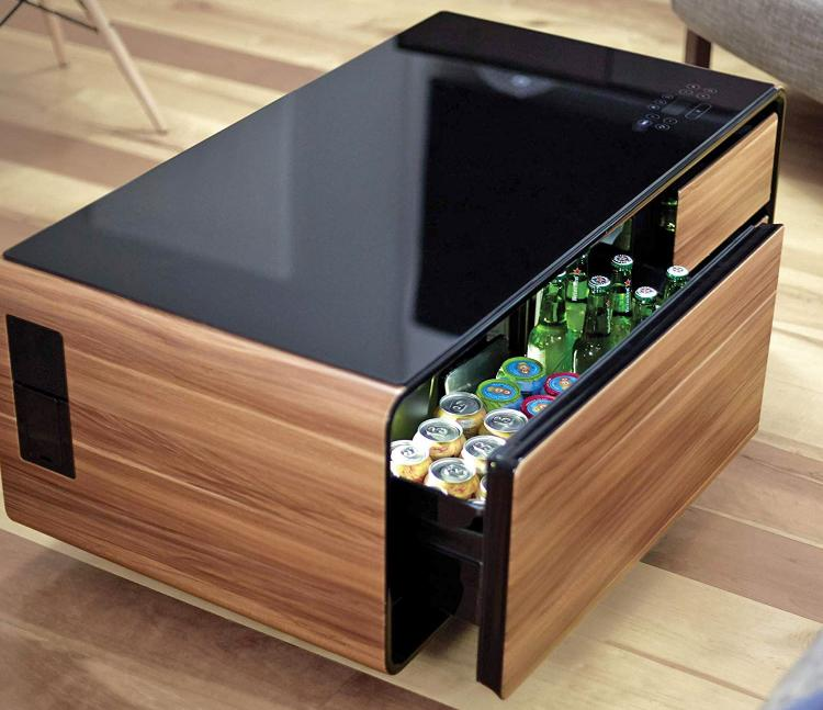 The Ultimate Coffee Table With Built In Fridge And Speaker System
