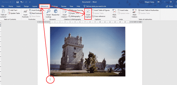 Add Caption To Photo In Word 2