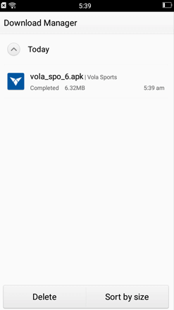 Install Vola Sports on Android Smartphones