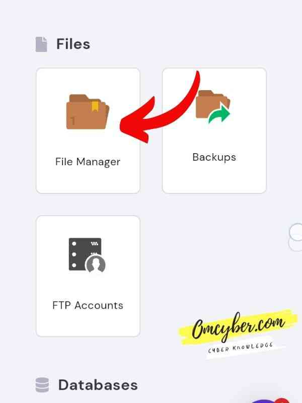 menu file cpanel hostinger
