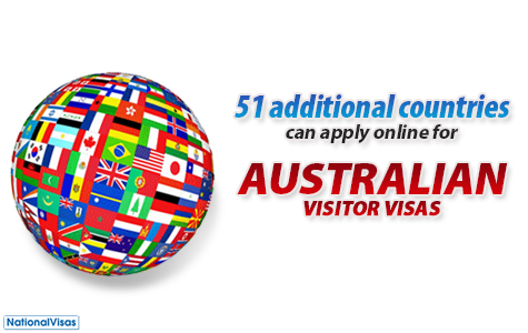 Online Application Australian Visitor Holiday Tourist Visa