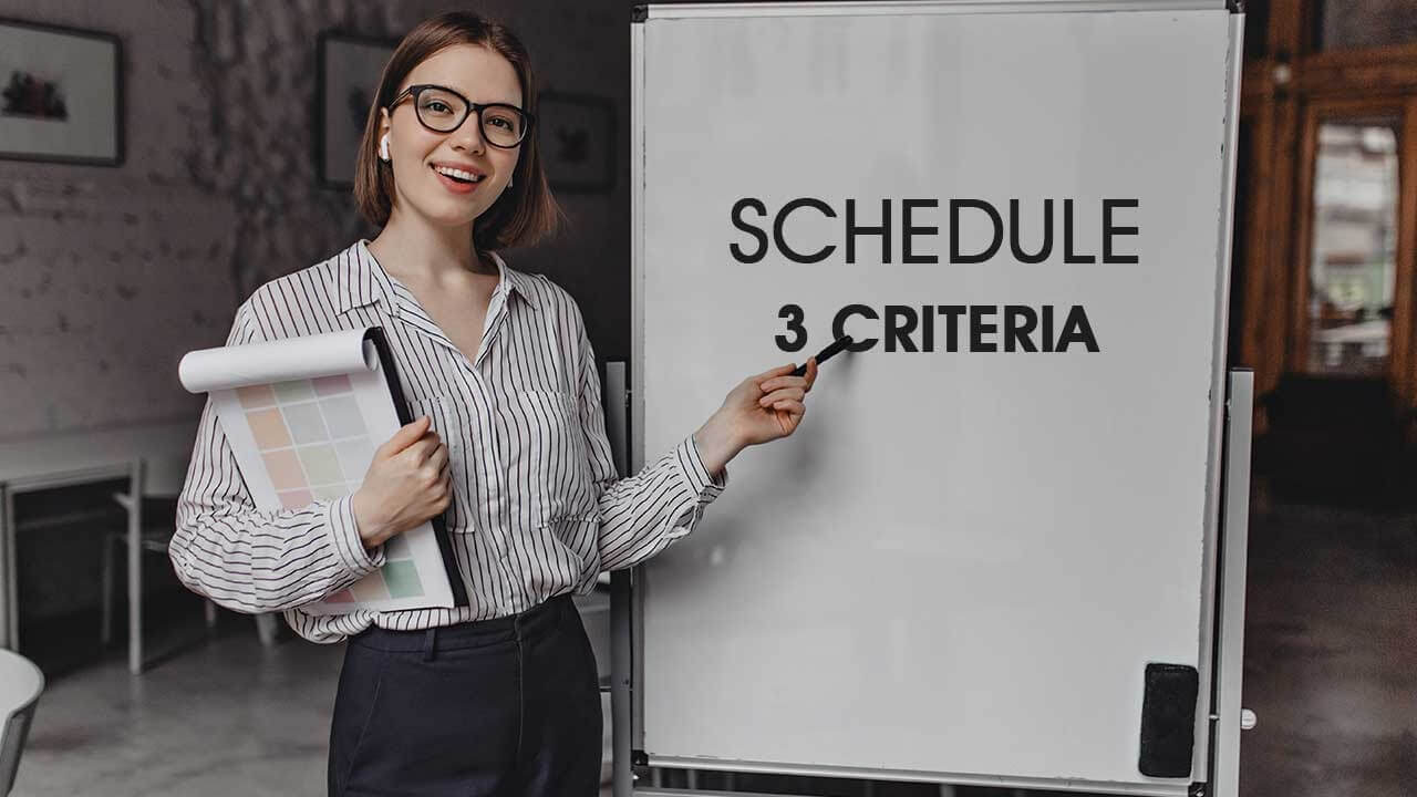 What does Schedule 3 Criteria mean
