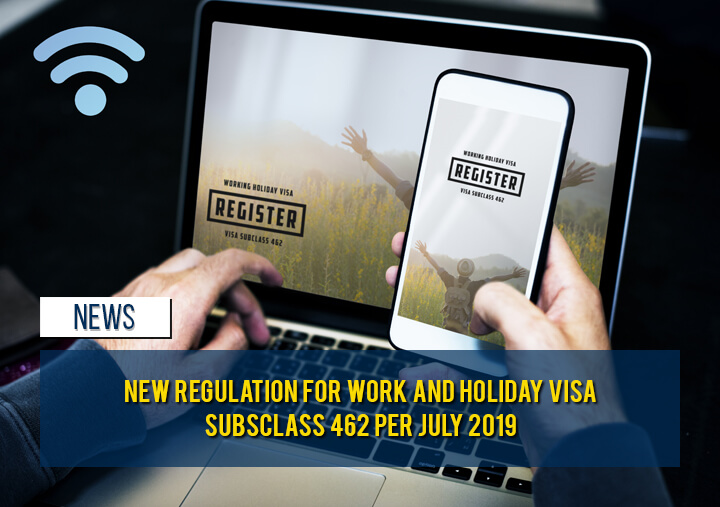 New Regulation for Work and Holiday Visa (subclass 462)