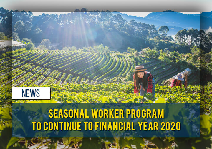 Seasonal Worker Program to Continue to Financial Year 2020