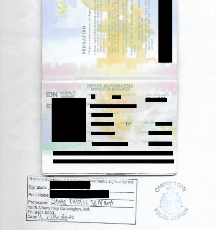 EXAMPLE OF CERTIFIED DOCUMENT