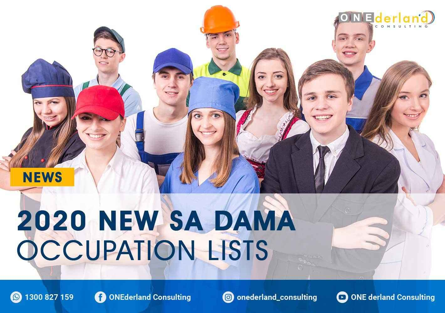 2020 New SA DAMA Occupation Lists