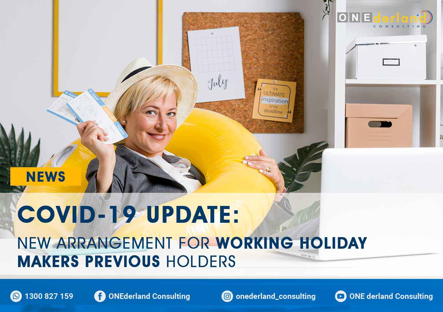 COVID-19 Update New Visa Arrangement for Working Holiday Makers Previous Holders