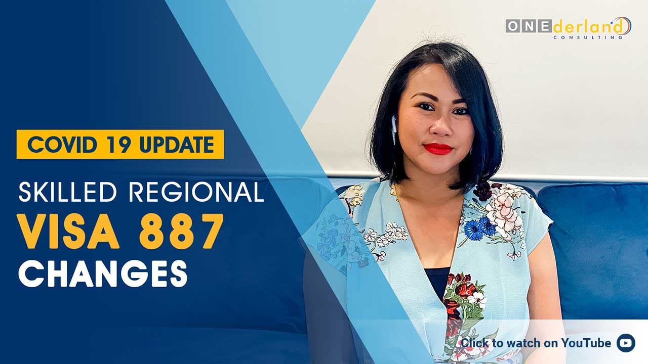 COVID-19 Updates Skilled Regional Visa 887 Changes