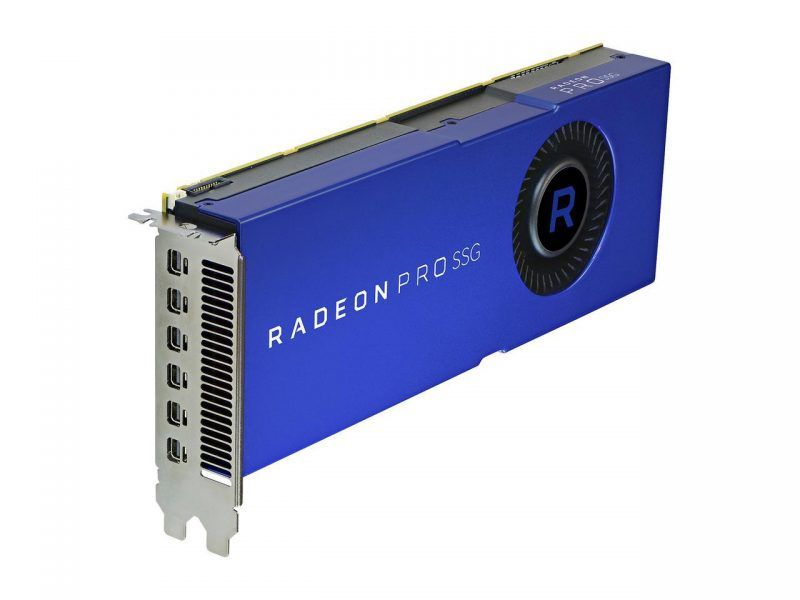 Finally confirmed the launch of the AMD Radeon Pro SSG, 16 GB of HBM2 memory and 2 TB of NAND flash storage