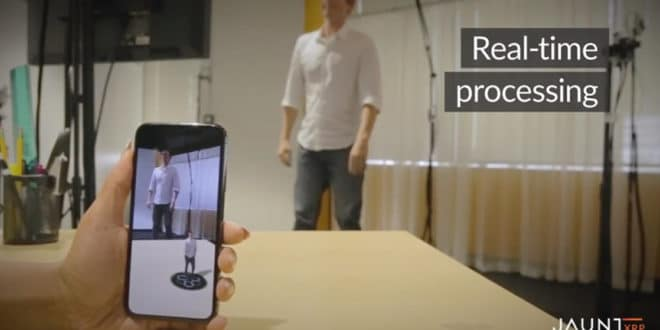 Jaunt 360 degree selfies in 3D mixed reality