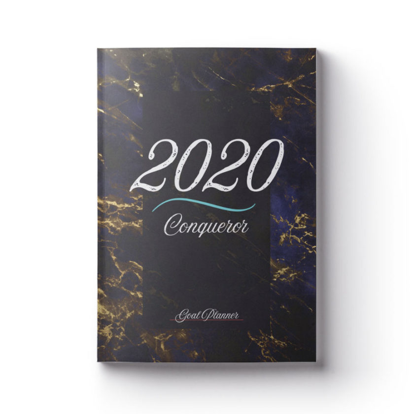 2020 Conqueror Gold Marble Planner