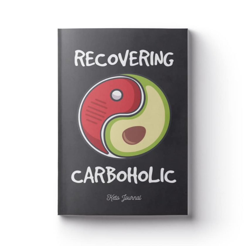 funny keto quotes recovering carboholic book cover keto planner