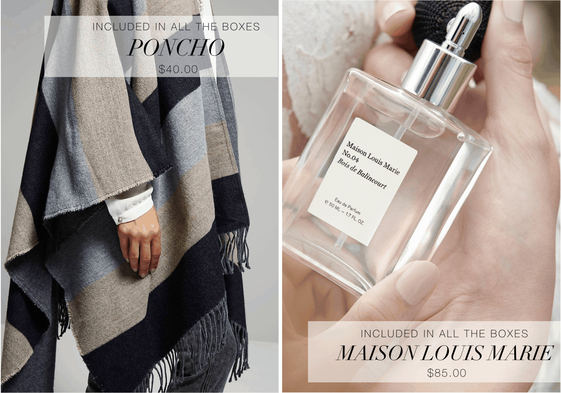 OuiPlease Maison Louis Marie French Luxury Poncho