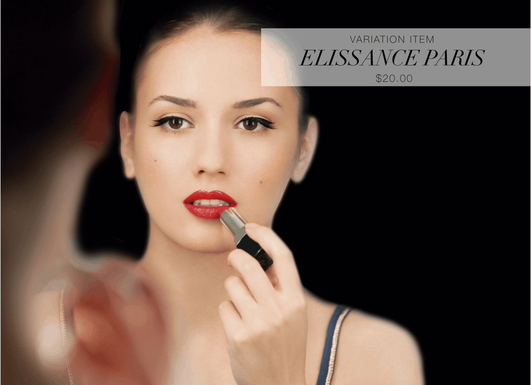 OuiPlease Je t'aime Elissance Paris French luxury red lipstick