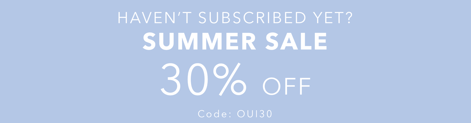 OuiPlease Coupon Code Summer Sale