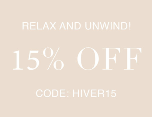 15% off coupon Hiver15
