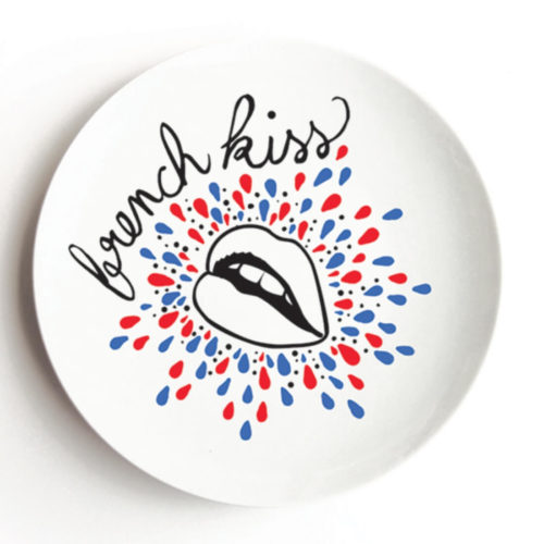 Pied de Poule French Kiss Porcelain Dish