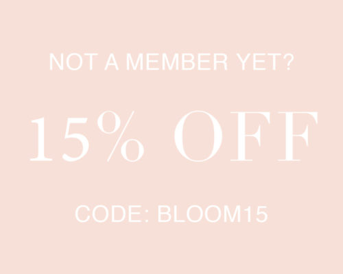 15% off coupon Bloom15