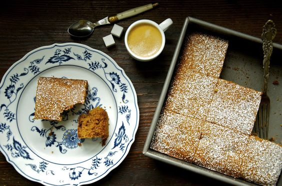 French Honey Cake cut into squares