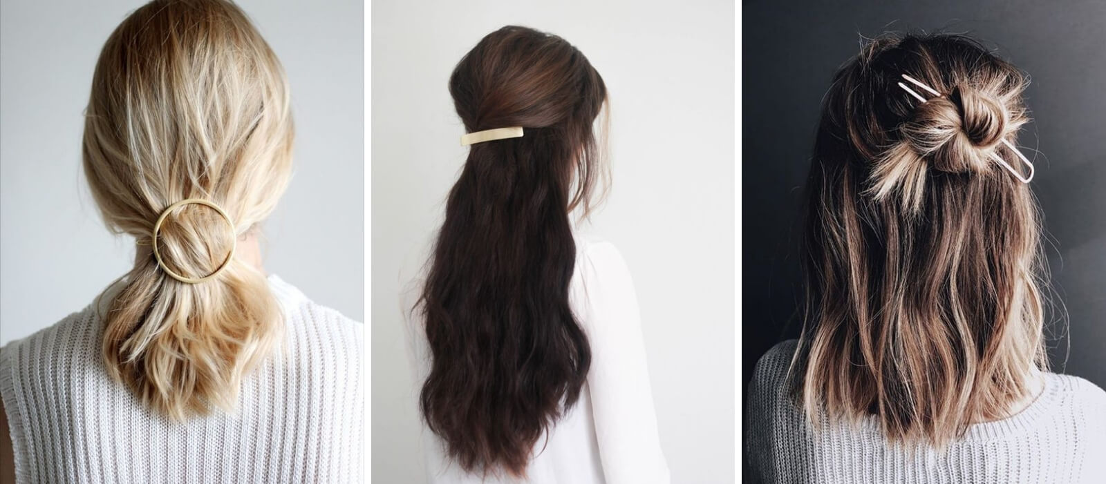 Women with hair barrettes