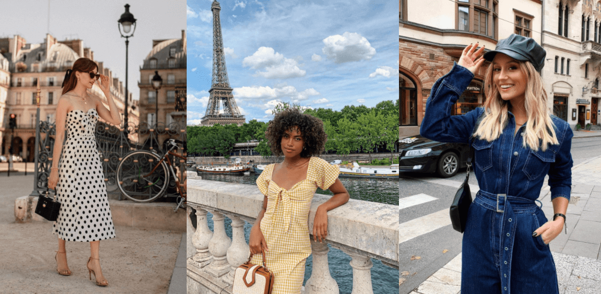 French influencers, 3 women