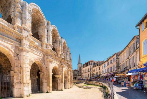Arles amphitheater and buildings