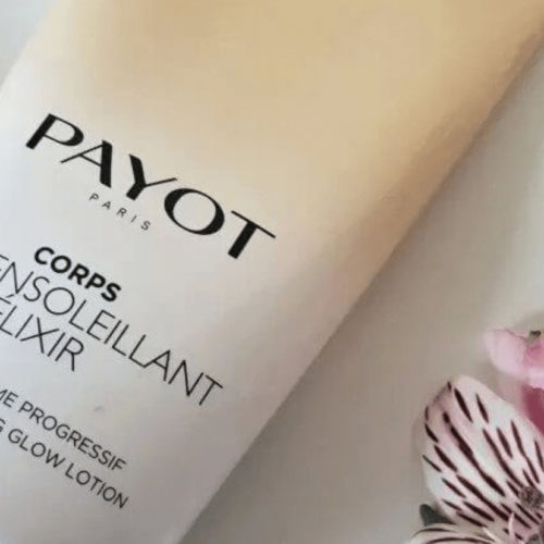 Payot Tanning lotion with flowers