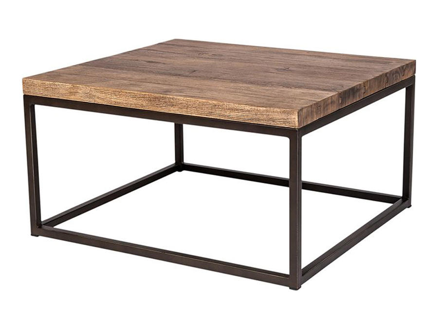 Industrial Coffee Table Square Outstanding Displays