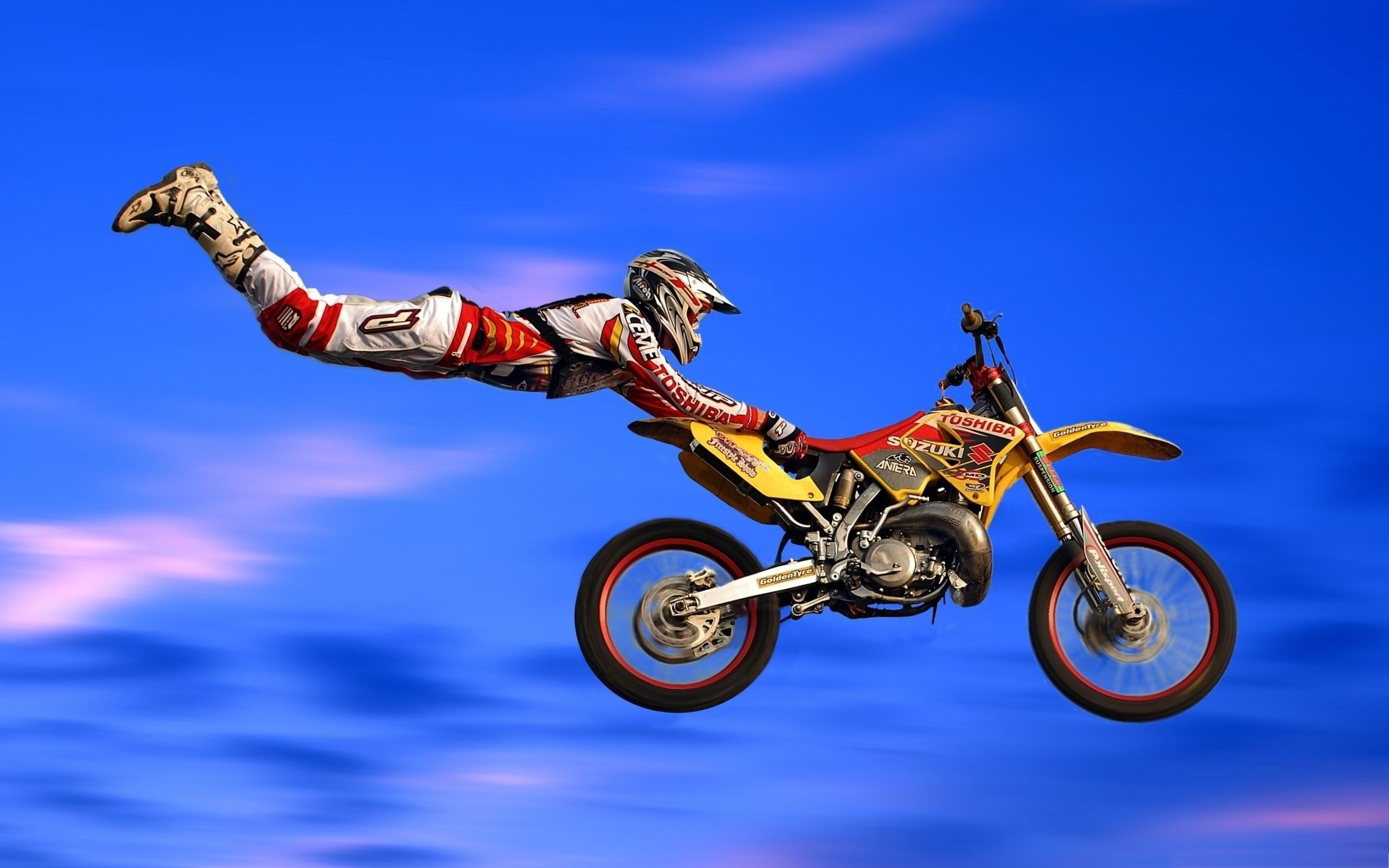 Motocross Jumps Sports Wallpapers Ilustrasi Sepeda Motor Trail