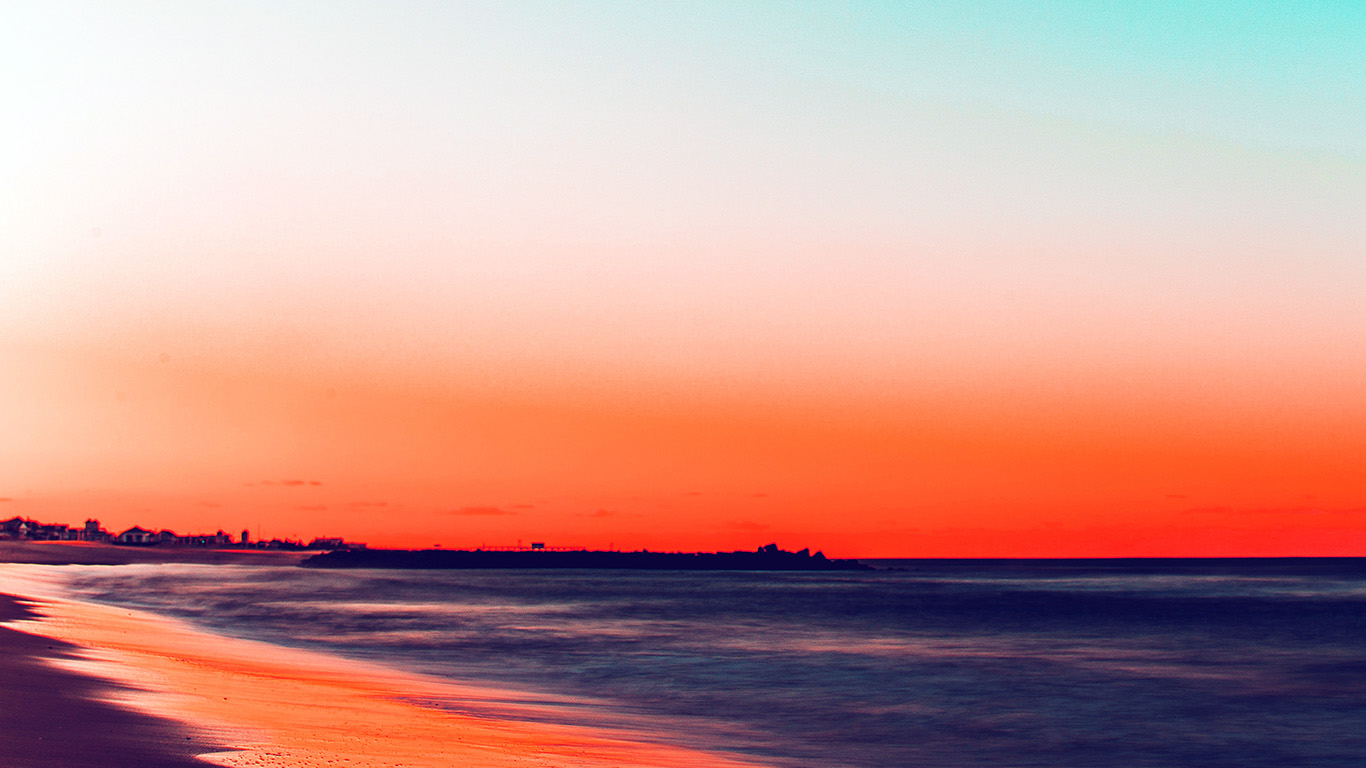 papers.co nu78 sunset beach fall night sea nature red 29 wallpaper