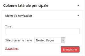 Menu Nested Pages
