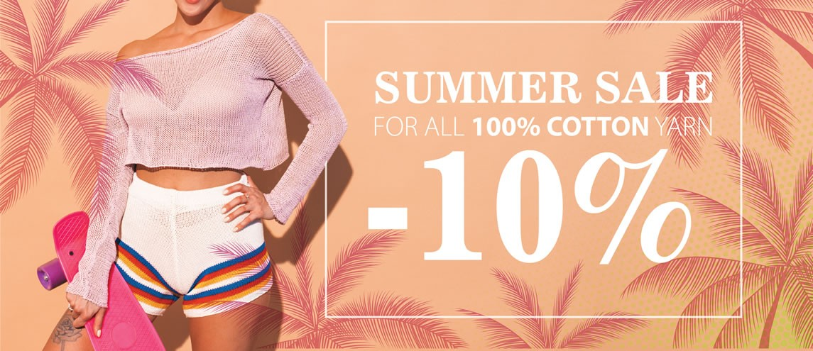 10% Discount on all 100% cotton yarn