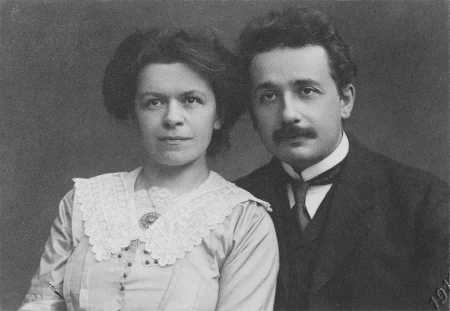 Albert Einstein with his wife Maric