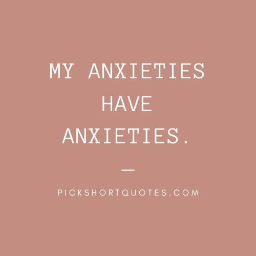 Charles Schulz Quotes : My anxieties have anxieties