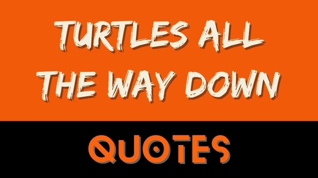Turtles all the way down Quotes