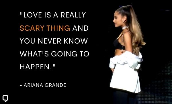 ariana grande quotes about love