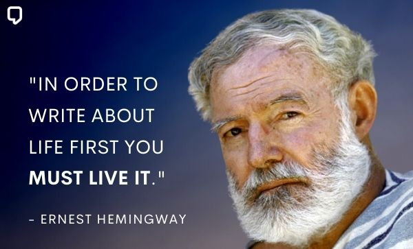 Ernest Hemingway quotes about writing :