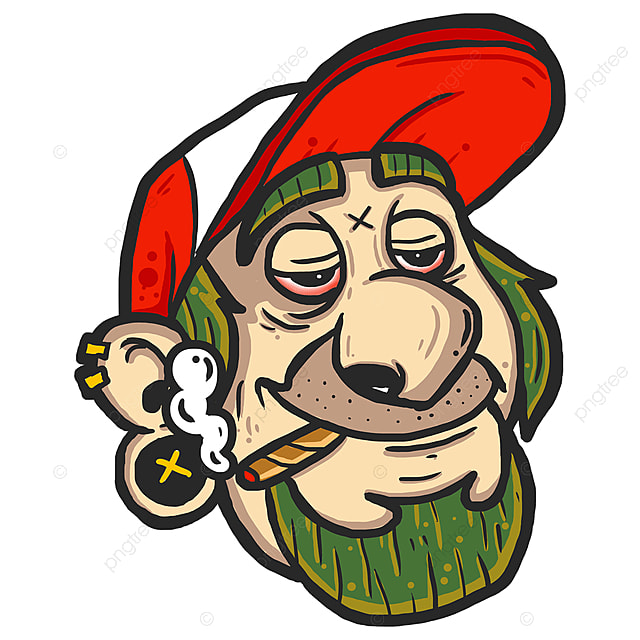 pngtree smoking cartoon characters png image 1023829