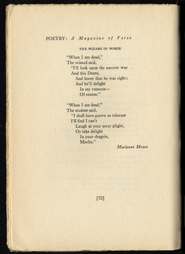 Marianne Moore Poems 2