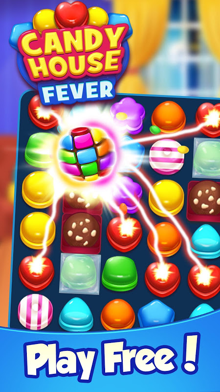 Candy House Fever – 2021 free match game