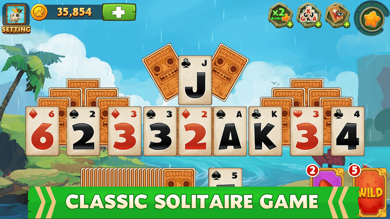 Solitaire TriPeaks Adventure – Free Card Game