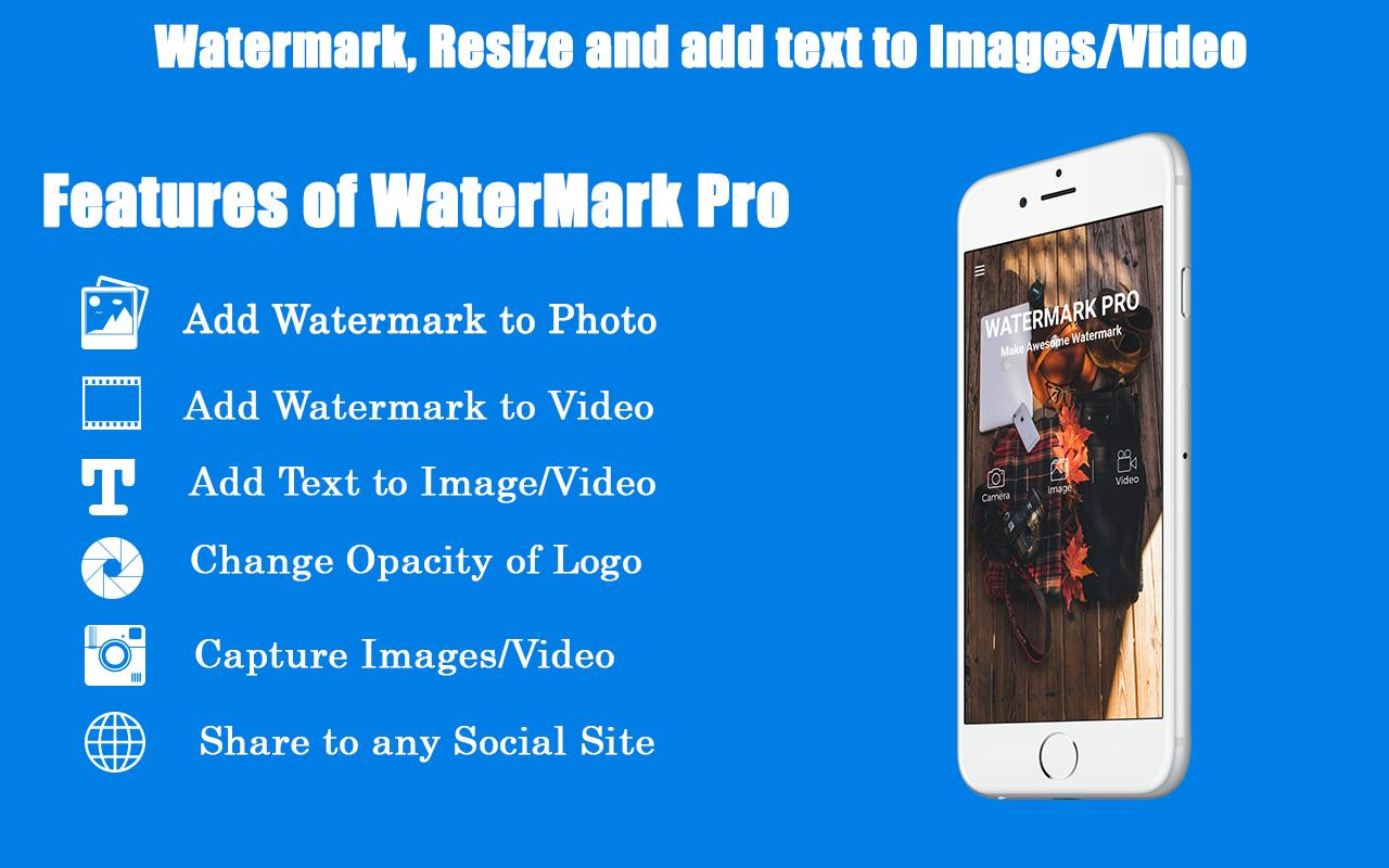 Video Watermark – Add text, logo on photo & video