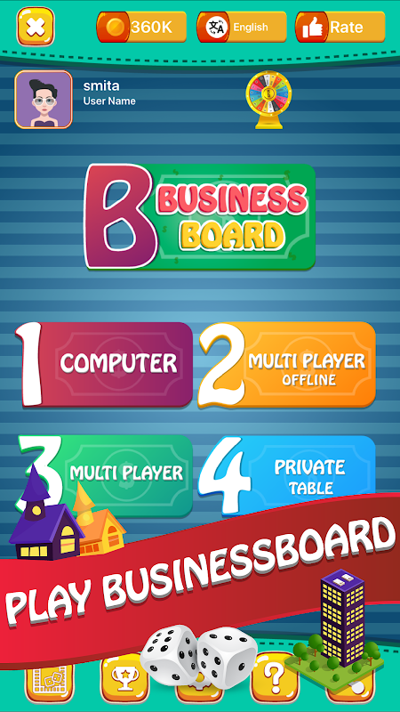 Business Board : Play Online Dice Board Game