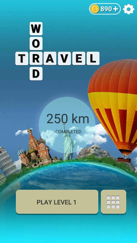 Word Travel:World Trip with Free Crossword Puzzle