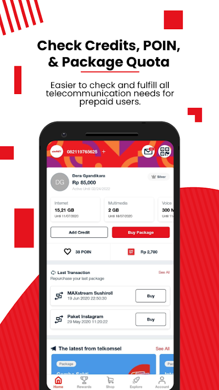 MyTelkomsel – Check & Buy Packages, Redeem POIN