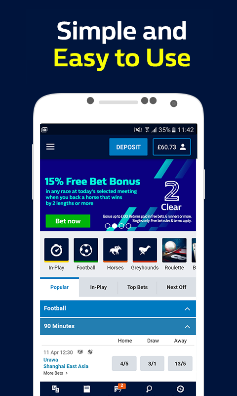 William Hill Sports: Bet on Football & Racing