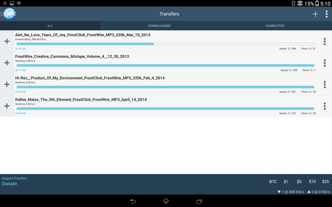 FrostWire: Torrent Downloader & Music Player