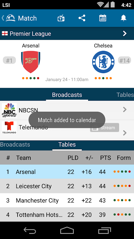 Live Soccer TV – Scores, Stats, Streaming TV Guide