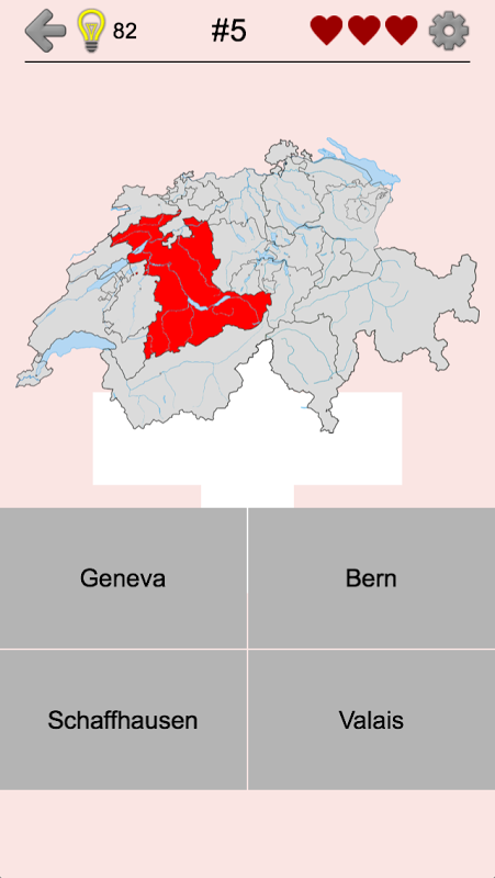 Swiss Cantons – Quiz about Switzerland's Geography
