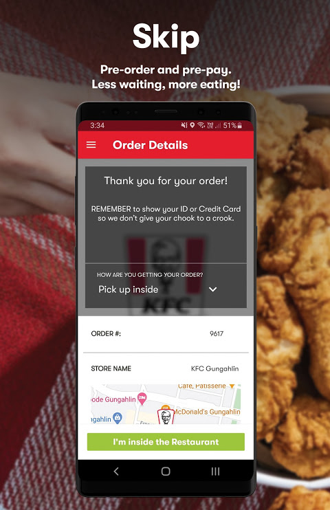 KFC – Order On The Go